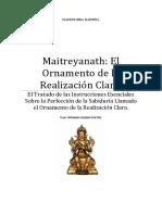 Maitreya - El ornamento de la ralización clara