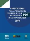 OrientacionesparalaProgramacionSGP-DNP2009vf