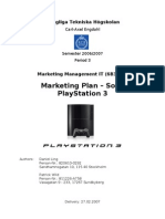 6B3401 Play Station 3 - Marketing Plan (Daniel Ling and Patrick Wild)
