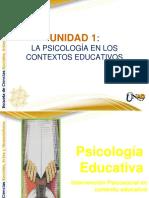 PSICOLOGIA EN LOS CONTEXTOS EDUCATIVOS
