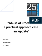 Talk Abuse of Process CFS Handout May 2016