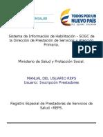 Manual HABILITACION Inscripcion Prestadores