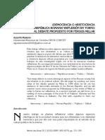 ¿Democracia o aristocracia en la República romana. Reflexión en torno al debate propuesto por Fergus Millar.pdf