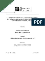 La Introduccion de La Educacion Fisica en Mexico