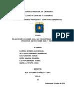 UNIVERSIDAD NACIONAL de CAJAMARCA Proyecto de Parasitologia Veterinaria