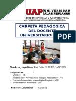 Carpeta Pedagógica Docente_uap_ 2018-II