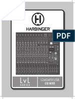 Harbinger L2404FX USB Mixer Manual