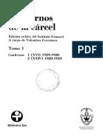 Antonio Gramsci - Cuadernos de La Cárcel - Tomo 1 (1)