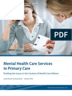 Mental Health Care Services in Primary Care
