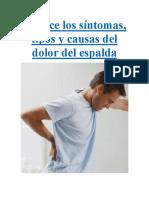 Conoce Los Síntomas Del Dolor de La Espalda
