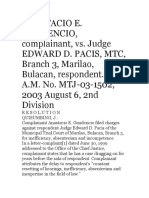 Gaudencio vs Pacis