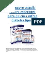 Un Nuevo Estudio Genera Esperanza Para Quienes Sufren Diabetes Tipo 2