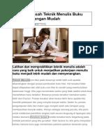 Cara Mengasah Teknik Menulis Buku Non