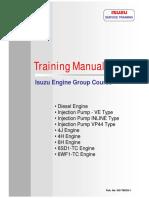 Isuzu Manual Training (Engine Part 1)