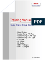 Isuzu Manual Training (Engine Part 1)