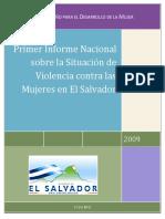 primer informe sobre situacion de violencia en las mujeres de el Salvador