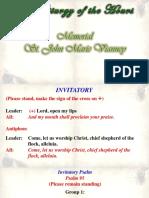 Lauds - St John Marie Vianey