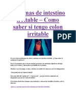 Síntomas de Intestino Irritable PDF GRATIS