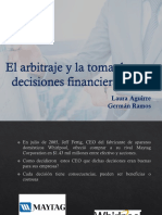 El Arbitraje y La Toma de Decisiones Financieras