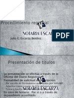 (6) Procedimiento registral