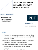 Design and Fabrication of Pneumatic Rotary Lifting Machine