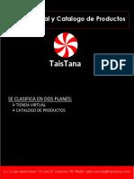 Propuestas de Catalogo y Tienda Virtual