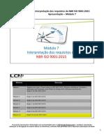 ISO 9001.2015 Modulo 7