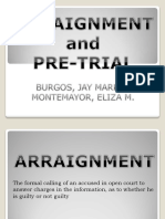 Arraignment and Pre Trial