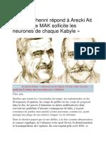 Ferhat Mehenni Répond à Arezki Ait Larbi