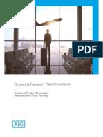 Corporate Passport Travel Wording