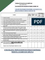 Requisitos de Inscripcion ING 2018