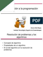 Introducción a la programación (Resolución de problemas y los algoritmos)