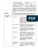 Procedures Manual on RPL