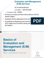 Basics of Evaluation and Management