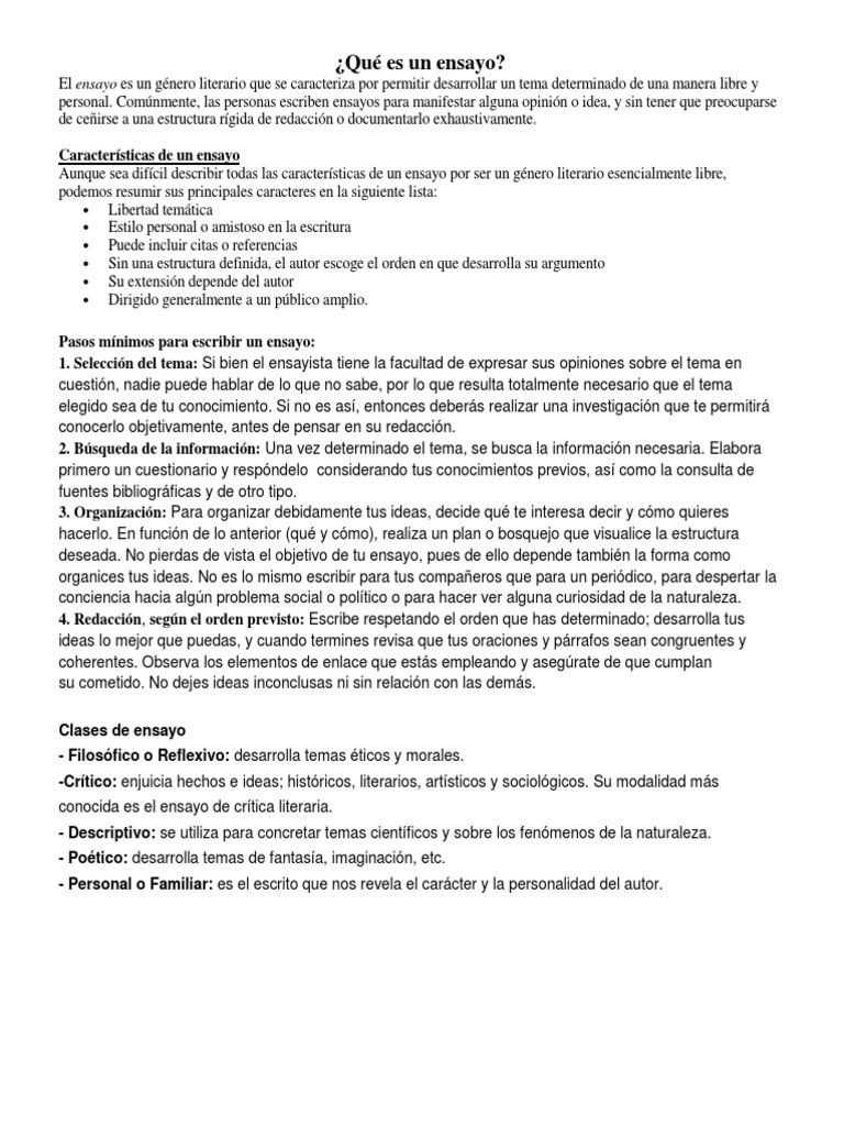El Ensayo Docx Dissertations Auteur