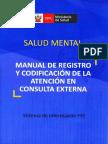 Registro y Codificación de La Consulta Externa en Salud Mental