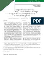 Estudio comparado de dos métodos de desproteinización para la evaluación de sangre total y plasma mediante espectroscopia de resonancia magnética