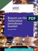 Report on the Australian Petroleum Market June Quarter 2018