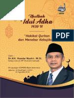 E-book Khutbah Idul Adha 1439h - Dr. Haedar Nashir Ketum PP Muhammadiyah
