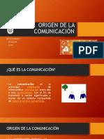 Origen de La Comunicación