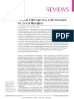 Tumour Heterogeneity and Resistance to Cancer Therapies