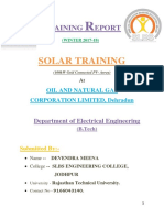 Solar Training at ONGC,Dehradhun
