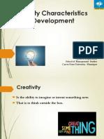 Creativity Characterstics
