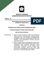 Perbup Kulon Progo No. 22 Tahun 2016 Ttg Pengelolaan Rumah Susun Sederhana Sewa