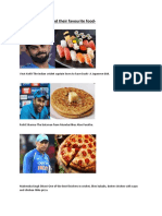 Indian Cricketers and Their Favourite Food Blog