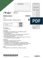 AQA Unit 3 Geometreyandalgebra Higher Question JUN13