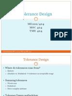 Me 222 Tolerance Design