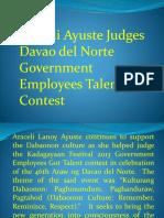 Araceli Ayuste Judges Davao Del Norte Government Employees Talent Contest