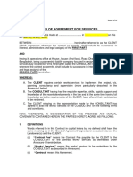 Deed of Agreement Architectural Contract Bangladesh