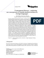 The Dawn of Assessment Literacy Exploring the Conceptions of Finnish Student Teachers in Foreign Languages